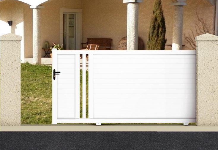 Portail Coulissant PVC Motorisé 3,5m Hypérion