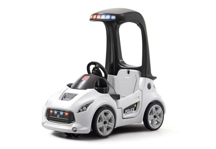 porteur pour enfant et bébé voiture de police américaine blanche