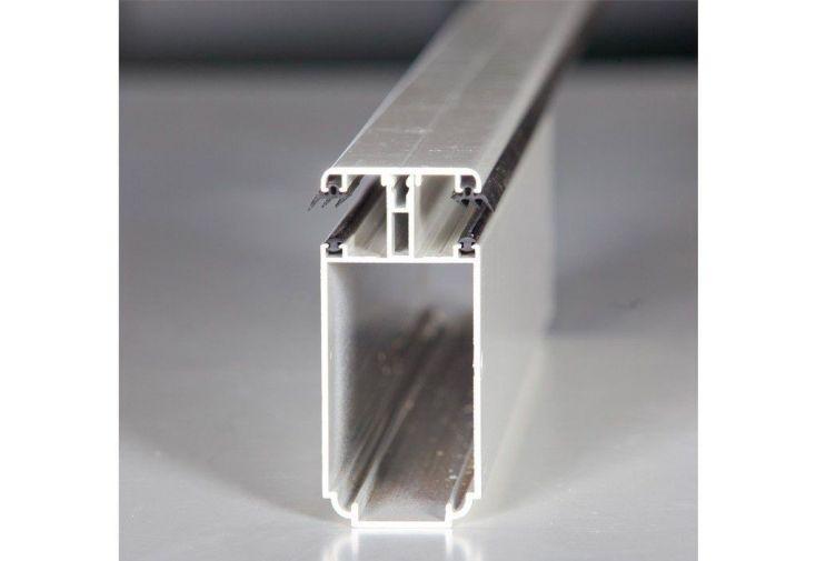 Profil porteur de jonction Tub 121 polycarbonate 16 mm - Blanc sur mesure