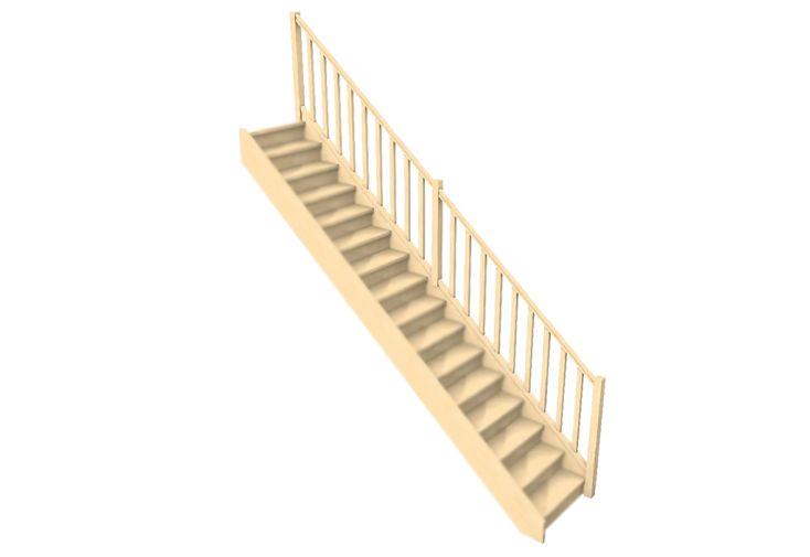Rampe à balustres droits pour escalier droit Oléa de Levigne
