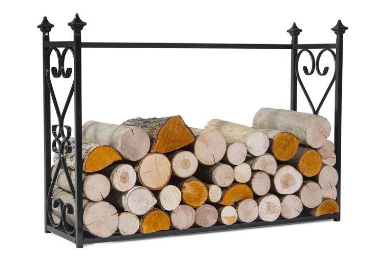 support à bois pour stocker bûches nécessaires à alimenter la cheminée