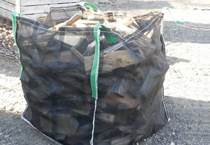 Sac pour bois de chauffage 1000 kg ventilé capacité 1 stère