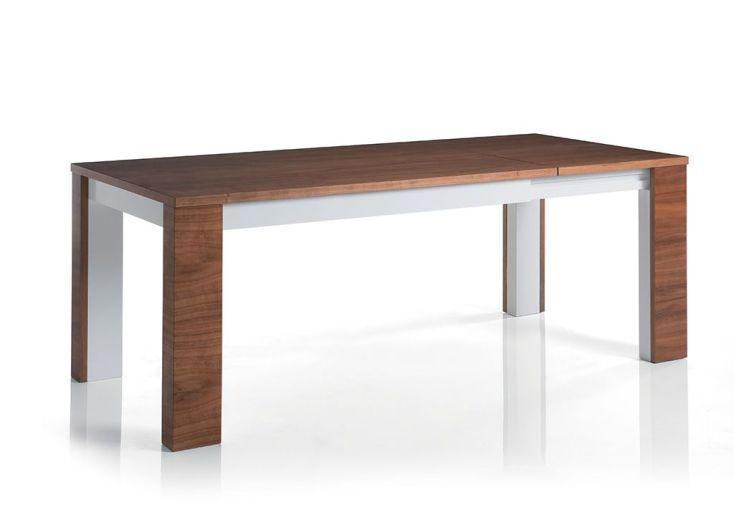 salle manger nadia table extensible 140 200x90 noyer