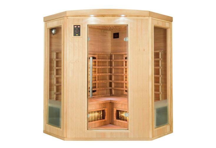 Sauna infrarouge avec émetteur quartz et carbone