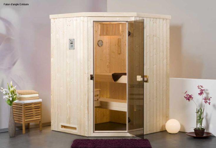 Sauna Weka Falun Angle 68 mm+Poêle 230 V