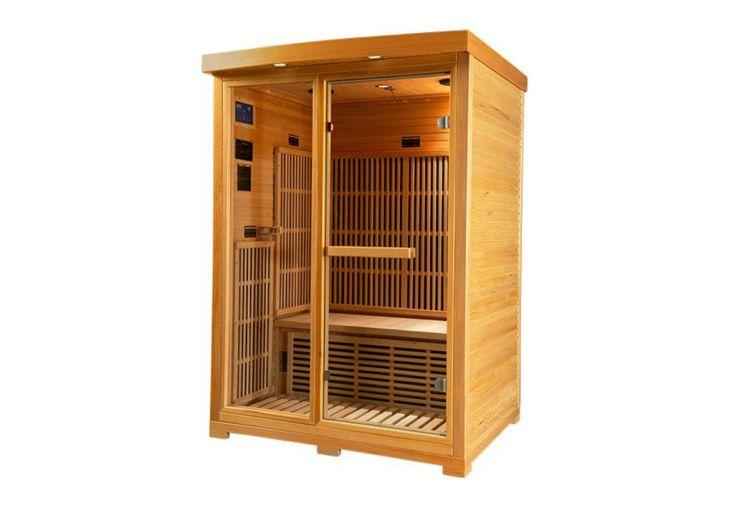 Sauna Infrarouge en Bois de Hemlock 2 Personnes Mountfield Zora