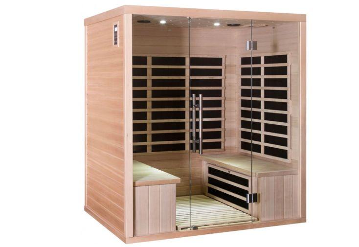 Sauna infrarouge Luxe en bois massif 4 places de Snö
