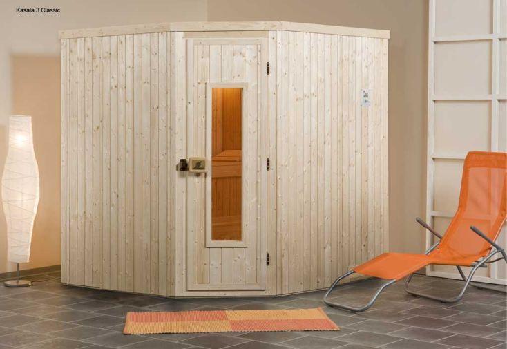 Sauna Angle 68 mm Kasala 3 + Poêle 230 V