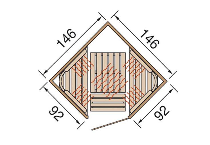 Sauna Infrarouge Radiant Angle Vis à Vis