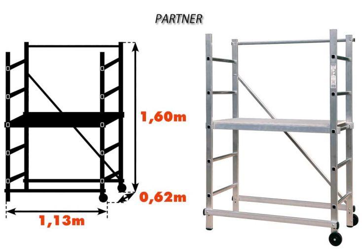 Echafaudage Aluminium Partner 3 m