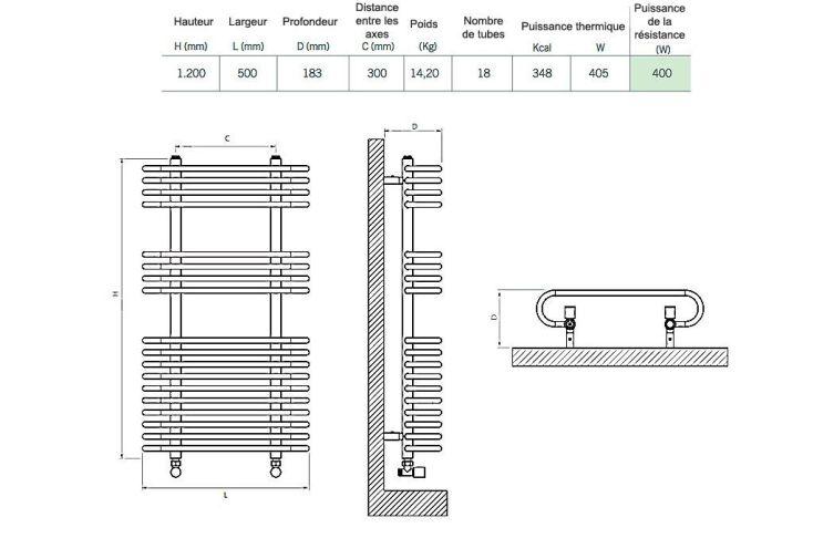 Sèche-Serviettes Electrique Design Vivien