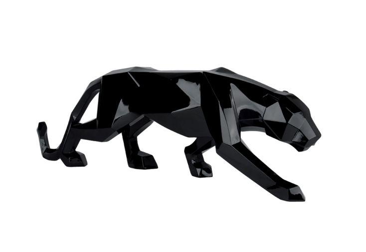 Sculpture en Polyrésine Socadis Pantera Noir