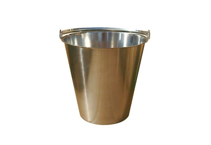 Seau en Acier Inoxydable pour Toilettes Sèches 15 L Lécopot