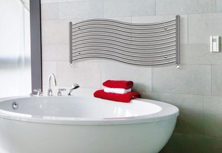 S che serviettes electrique design onda 500x1200mm zeta - Seche serviette 50 cm ...