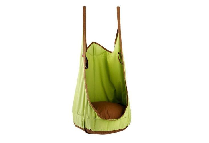 Fauteuil suspendu vert en coton pour chambre d'enfant