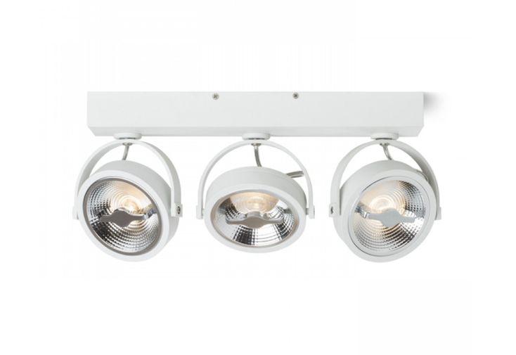 Luminaire LED en Métal Rendl Light Studio Kelly III Blanc