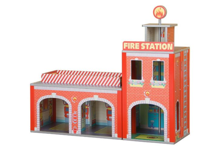 Station de Pompier en Bois Ingham avec Accessoires