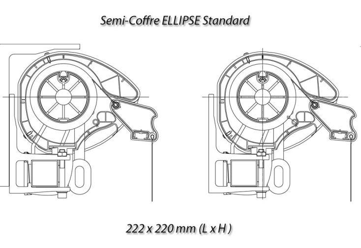 Store Banne 6x3 Semi-coffre Moteur + télé-cde