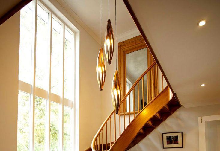 lampe suspension design en bois cocoon 25x120cm macmaster. Black Bedroom Furniture Sets. Home Design Ideas