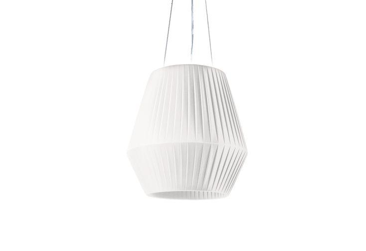 Suspension Luminaire avec Abat-Jour en Ruban Ø 45 cm Dix Heures Dix Blanc