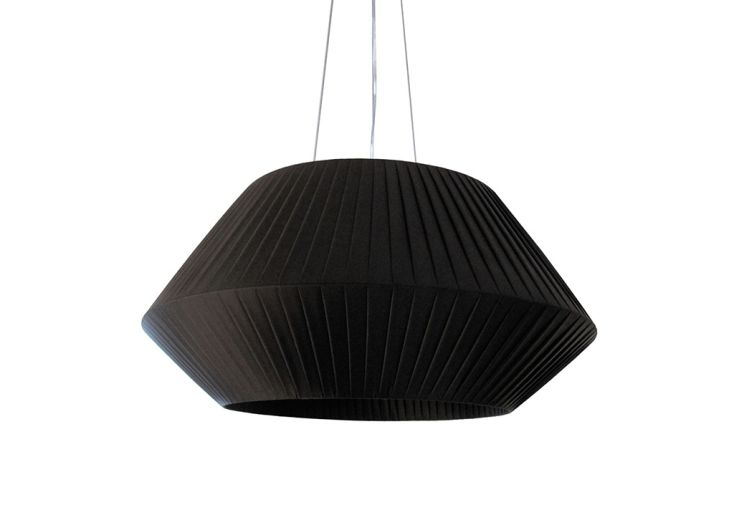 Suspension Luminaire avec Abat-Jour en Ruban Ø 90 cm Dix Heures Dix Noir