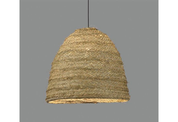 Suspension luminaire abat-jour en fibre de raphia lustre ACB Moyana Ø 50 cm