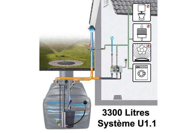 cuve de récupération d'eau de pluie 3300 litres