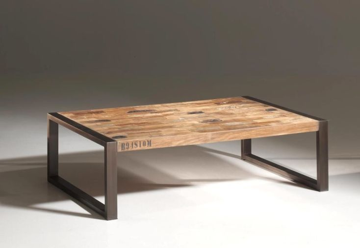 Ensemble Tables-Basses et Miroir en Teck Isis