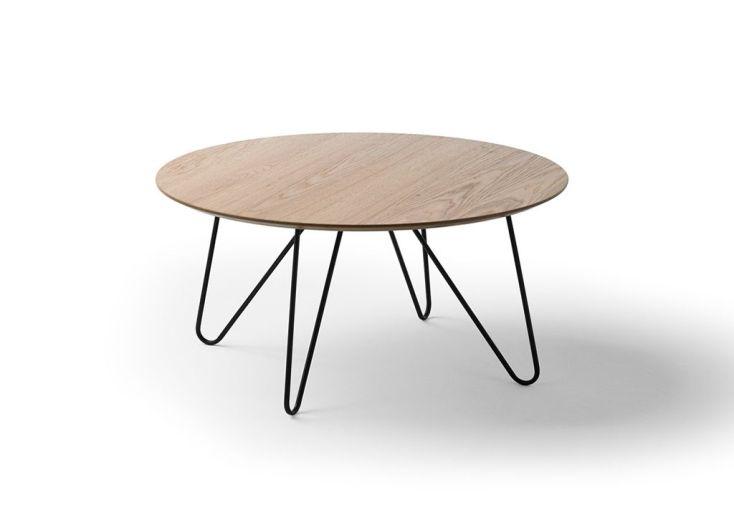 Table Basse De Salon Design En Bois Et Métal Ronde 80 Cm Meuble Maison