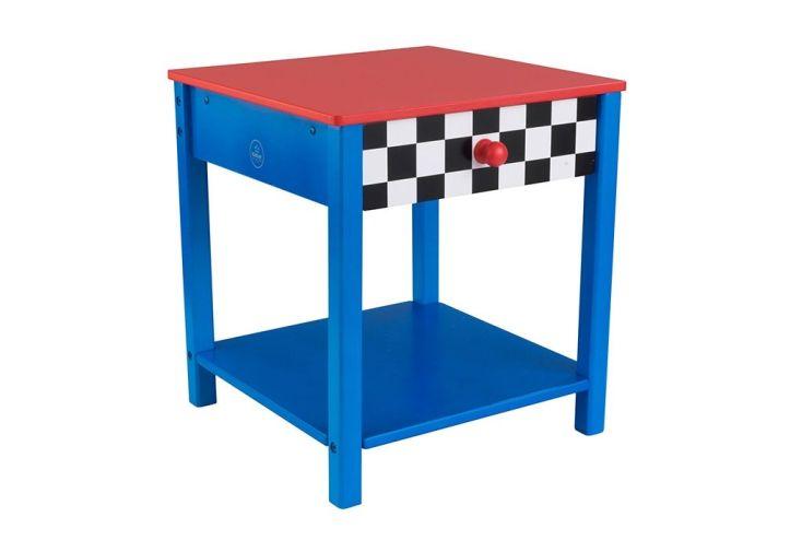 table de chevet en bois pour enfant voiture de course