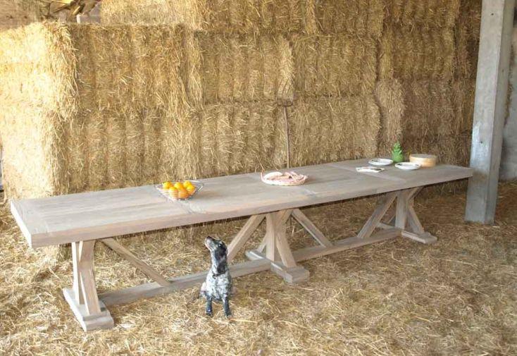 Table en Teck Gris Colmo