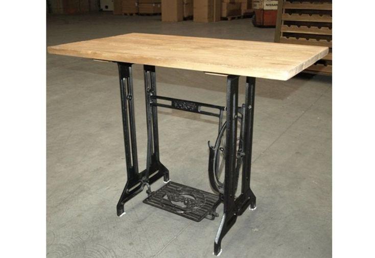 Table Machine à Coudre en Teck (100x55x77cm) Lot de 2