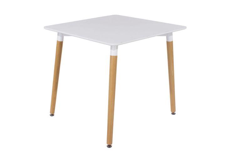 Table à Manger Carrée en Polypropylène et Bois Design Vicenza Asti 80 x 80 cm