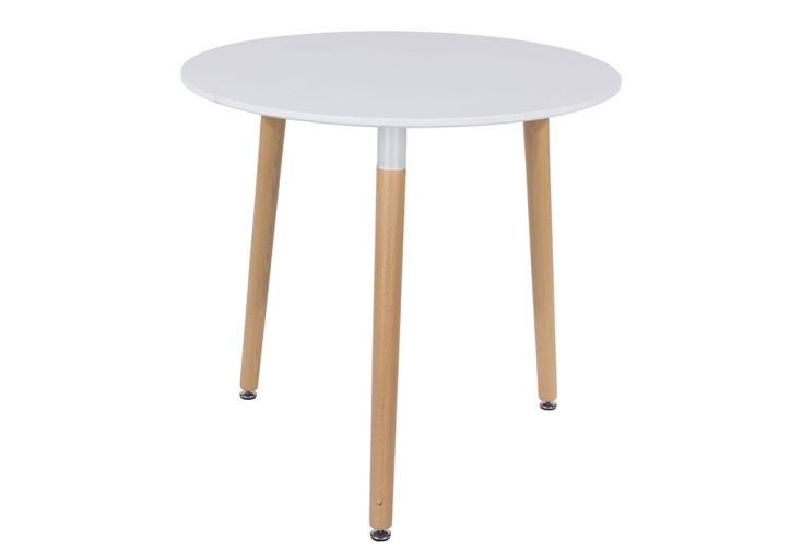 Table à Manger Ronde en Polypropylène et Bois Design Vicenza Asti ⌀ 80 cm
