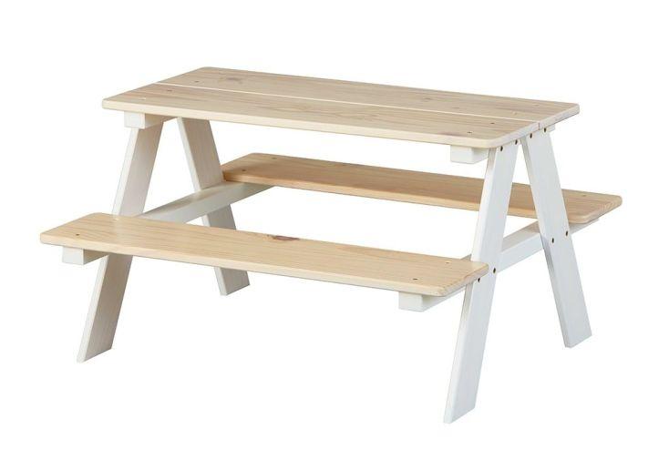 table de pique-nique d'intérieur bureau en bois pour enfant