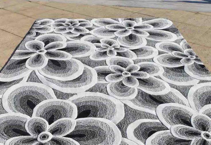 Tapis en Acrylique Flower (140x200 - 170x240 - 200x300cm)