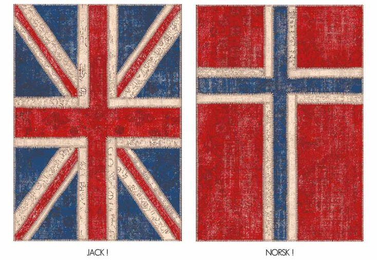 Tapis en Chenille de Coton Flags 200 x 280 cm (5 modèles)