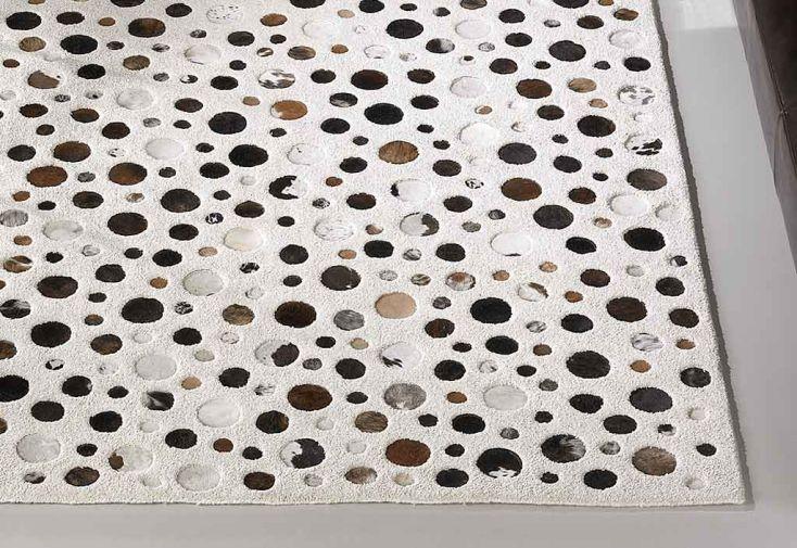 Tapis en Laine et Peau Rocking Blanc 140x200cm