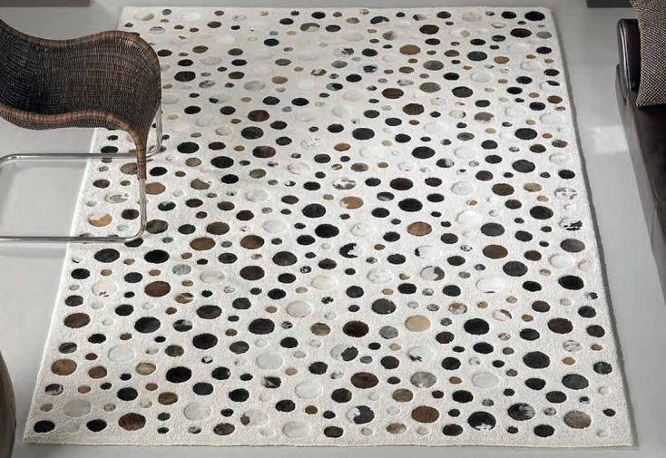 Tapis en Laine et Peau Rocking Blanc 200x300cm