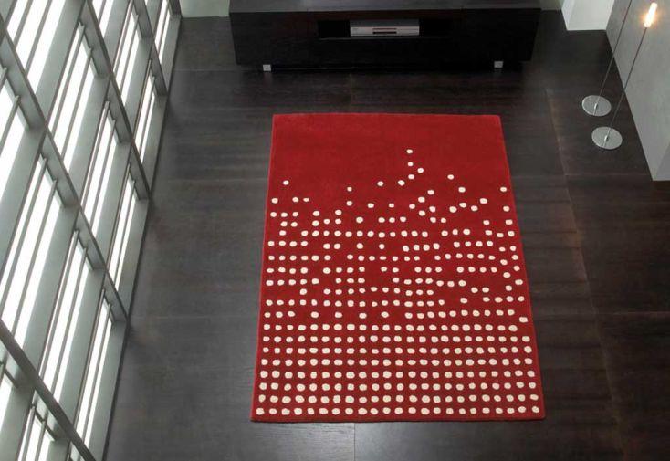 Tapis en Laine Pompons Cascata 170x240cm (2 coloris)
