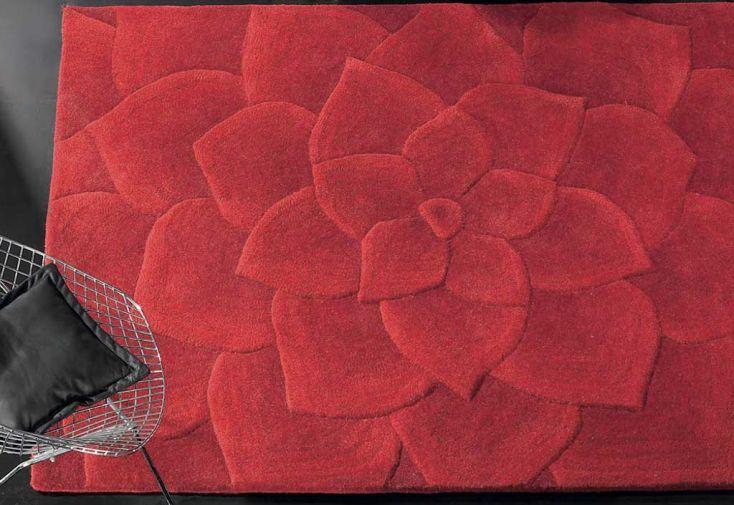 Tapis en Laine Rouge Kalista (140x200 - 170x240 - 200x300cm)