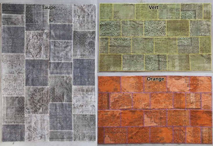 Tapis en Laine Super Patchwork 200x300cm (9 coloris)