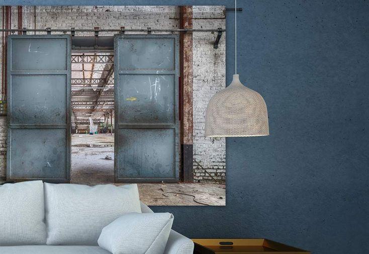 Tenture Murale Design en Coton Bio 145x190cm Spinning Door