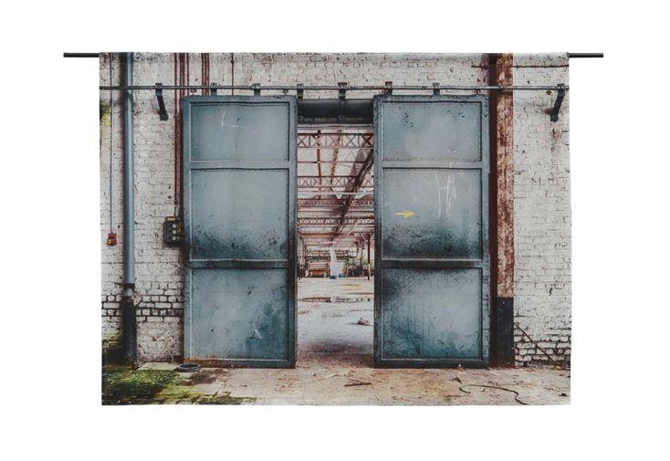 Tenture Murale Design en Coton Bio 145x190cm Spinning Doors