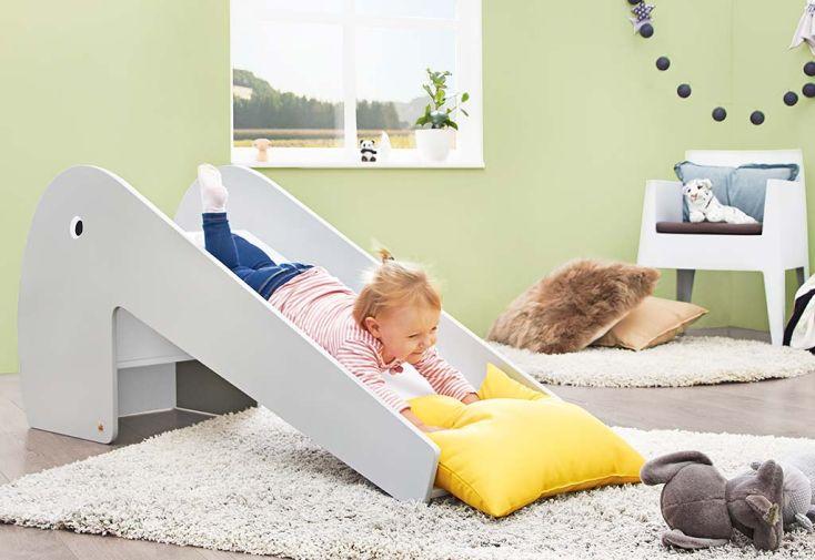 toboggan pour chambre d'enfant en bois