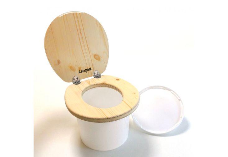 Toilette Sèche pour Enfant en Bois d'Épicéa Lécopot Mini Colombus 25 x 27 cm