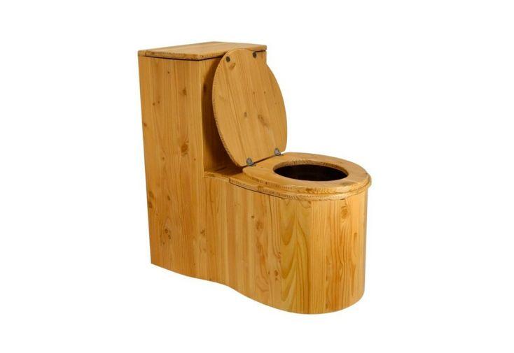 Toilette Sèche d'Intérieur en Bois de Douglas Lécopot Cagaròl 40 x 79 cm
