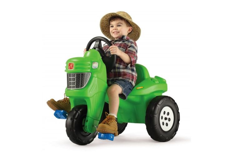 porteur pour enfant : tracteur agricole à pédales 3 roues