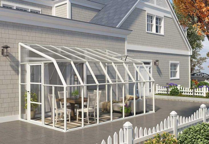 véranda sunroom de largeur 2,58 mètres et longueur au choix