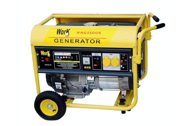 Générateur électrique 5500W -réservoir à essence 25L